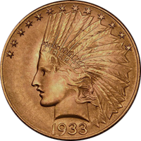 1933 Indian Head Gold Eagle